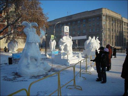 12 фестиваль снежных скульптур