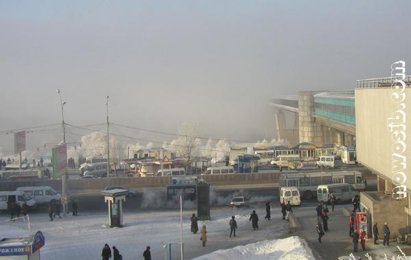Город погрузился в густой туман