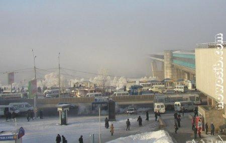 Над городом нависла морозная дымка