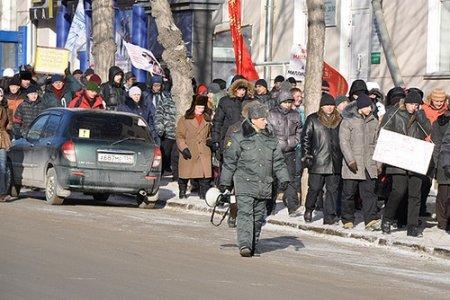 Штраф грозит организаторам митинга в Новосибирске за акцию у здания правительства области