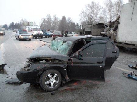 Крупное ДТП на трассе м-52 в районе Бердска 1 человек погиб