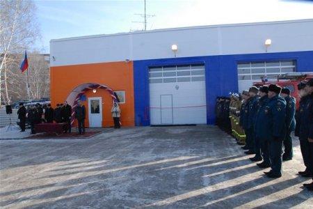 В Новосибирске открылось новое пожарное депо