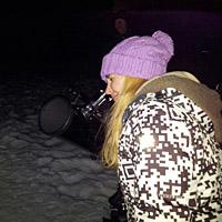 Жители Академгородка смотрели на звезды