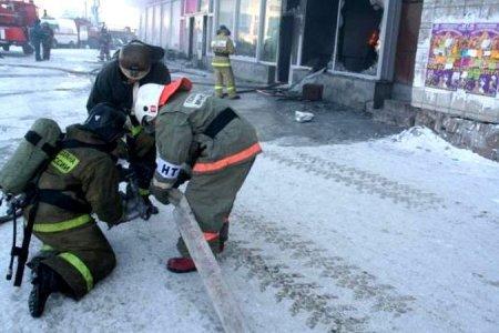 В Новосибирске загорелся торговый центр «Большая Медведица»