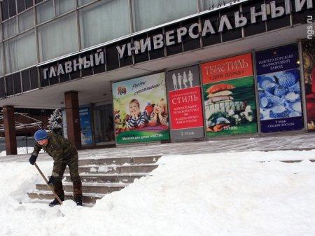 Новосибирск накрыло рекордным снегопадом