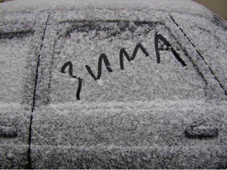 Выпавший снег растает после 10 апреля