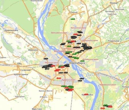 В Новосибирске обнаружены 284 брошенных автомобиля
