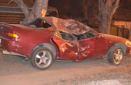 На Немировича-Данченко Toyota спикировала в дерево