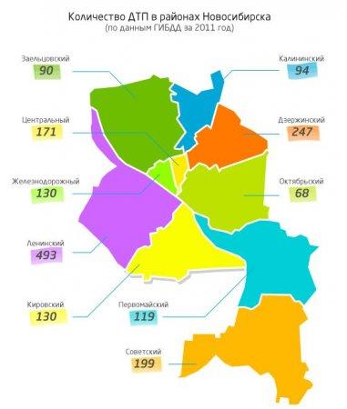 Площадь Труда оказалась самым аварийным местом в Новосибирске