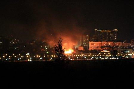 Ночью в Октябрьском районе вспыхнули склады