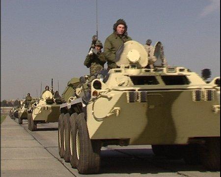 Тренировка военного парада в честь Победы