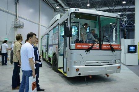 На выставке «АвтоСиб» показали первый троллейбус на новосибирских батарейках