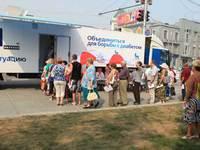 Более тысячи новосибирцев прошли обследование в передвижном диабет-центре
