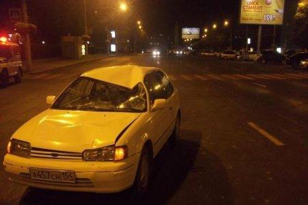 В центре Новосибирска 69-летний водитель Тойоты сбил пешехода