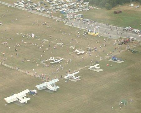 Авиационный фестиваль на аэродроме Мочище