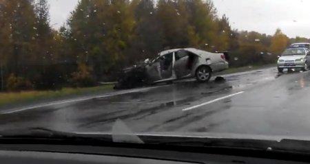 В Новосибирской области полицейский совершил ДТП, двое погибли