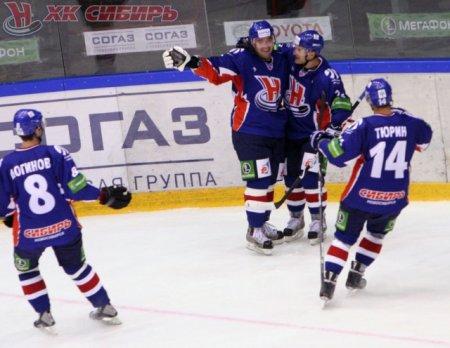 Новосибирская ХК«Сибирь» благодаря победе над  «Трактором» возглавила турнирную таблицу КХЛ