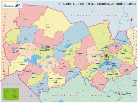 2ГИС и «Газпромнефть-Новосибирск» выпустили карту АЗС Новосибирской области