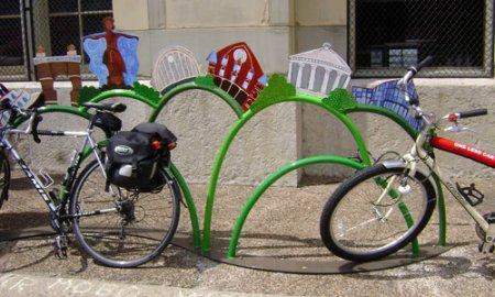 Новая велопарковка в Новосибирске