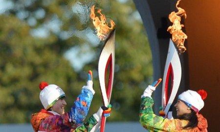 Олимпийский огонь в Новосибирске