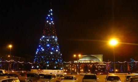 Новосибирск украшается к Новому году