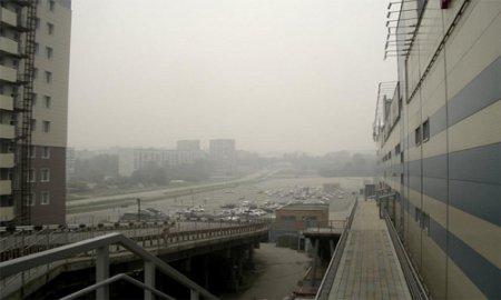 Туман-туманище в Новосибирске