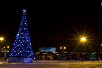 Открытие главной елки Новосибирска состоялось в 30-градусный мороз
