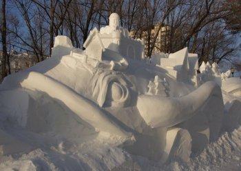 В Новосибирске начался традиционный Фестиваль снежной скульптуры